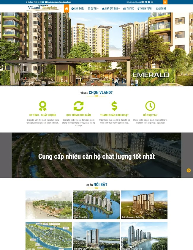 Theme Dự án - công ty bất động sản miễn phí có niêm yết tin đăng - Blogspot