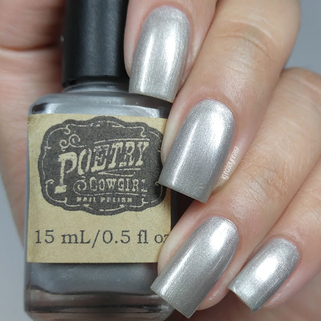 Poetry Cowgirl Nail Polish - Silver Sleigh Bells