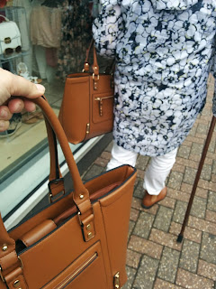 PippaD and DottyMawMaw with matching handbags