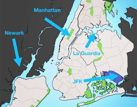 Giới thiệu 3 sân bay JFK, sân bay EWR, sân bay LGA ở New York