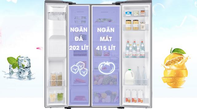 Tủ lạnh Samsung Inverter 617 lít RS64R5101SL/SV