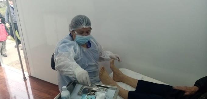 En Pichidamas comenzó a funcionar clínica podológica móvil