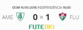 O placar de América-MG 0x1 Fluminense pela 1ª rodada do Brasileirão 2016
