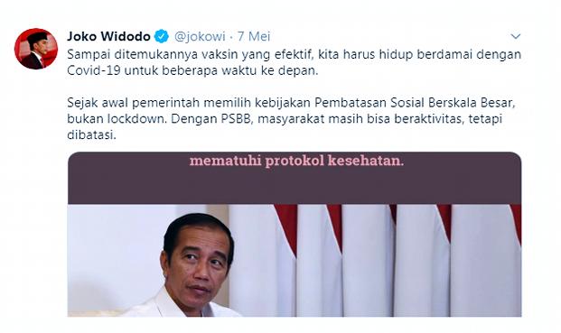 Pernyataannya Bikin Warga Bingung, Istana Akhirnya Jelaskan Maksud Jokowi 'Berdamai dengan Corona'