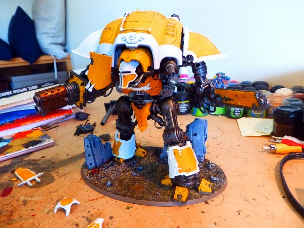 40k WIP ImpKnight plating on 2