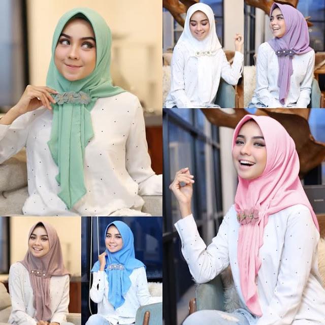 Jilbab INSTAN Modis Cantik Aqilla Hijab GRATIS Bros Cantik