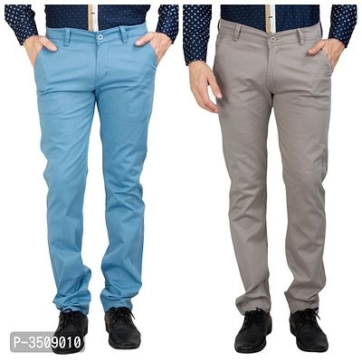 Pack of 2 Mens Cotton Blend Trouser Pant | Pant For Mens Online Shopping | Trouser Pant For Men Online Shopping | Mens Pants Online | Mens Trousers Online | Online Shopping in India |