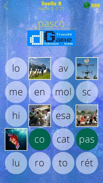 650 Foto soluzione pacchetto 8 livelli (1-25)