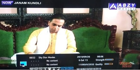 ABZY Movies Channel added on Channel No 10