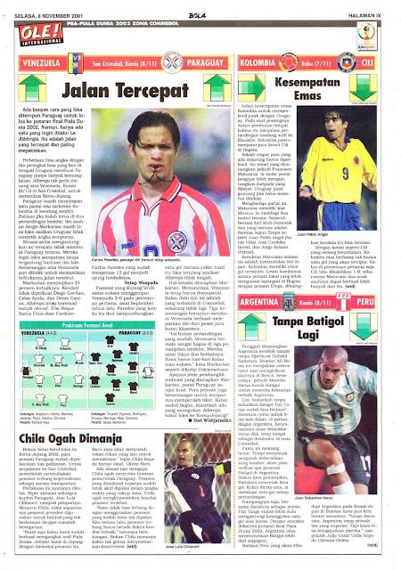 PRA-PIALA DUNIA 2002 ZONA CONMEBOL VENEZUELA VS PARAGUAY