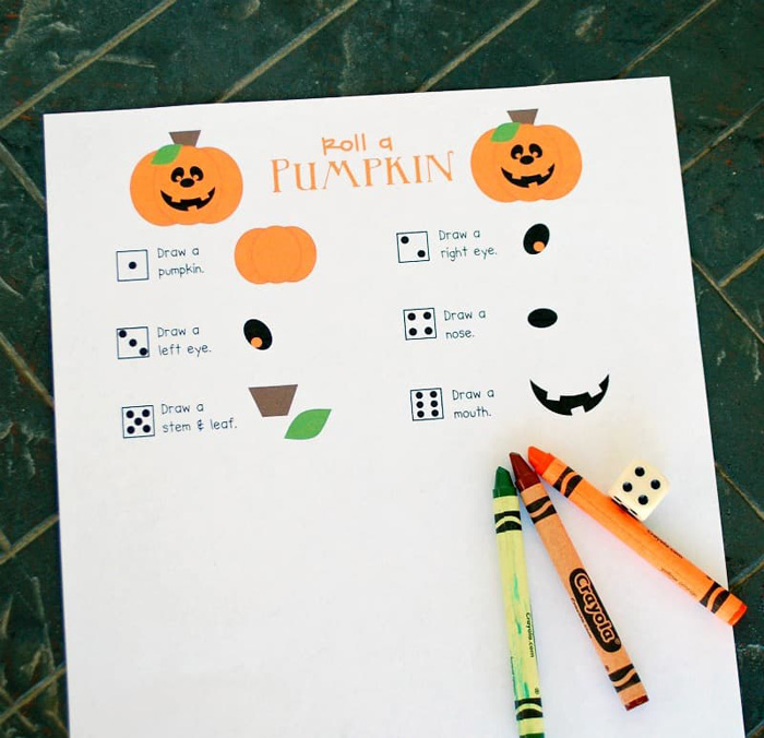 Roll-A-Pumpkin Printable