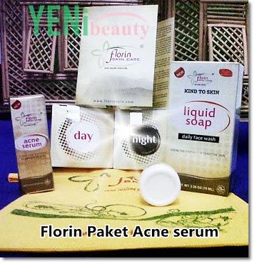 Florin skin care paket acne serum untuk jerawat