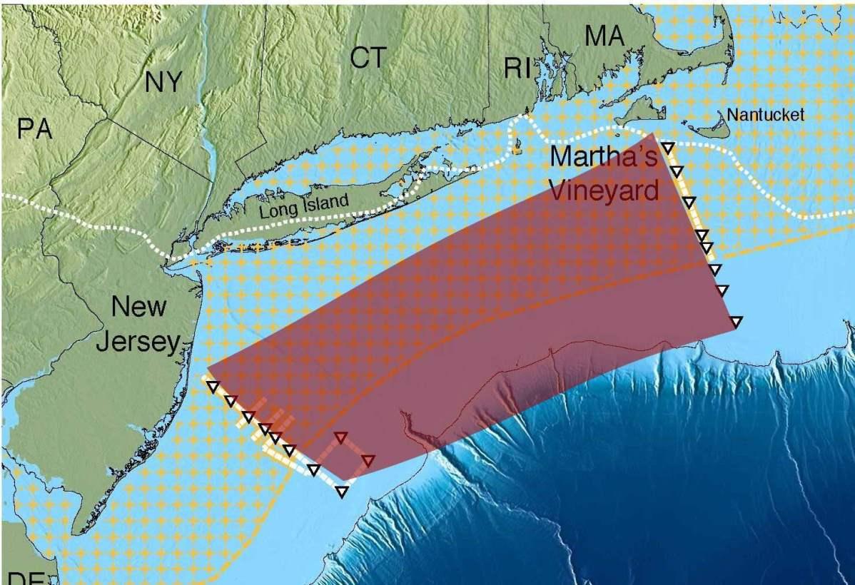 Researchers Discover Giant Freshwater Aquifer Off Us East Coast - Aquifer-map-us