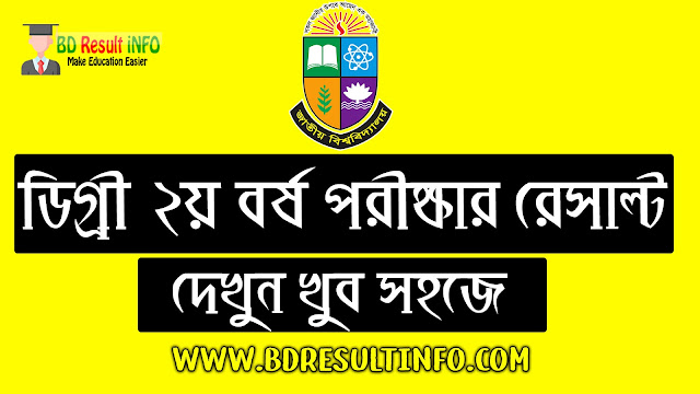 NU (National University) Degree 2nd Year Result 2019 (Session 2016-17)