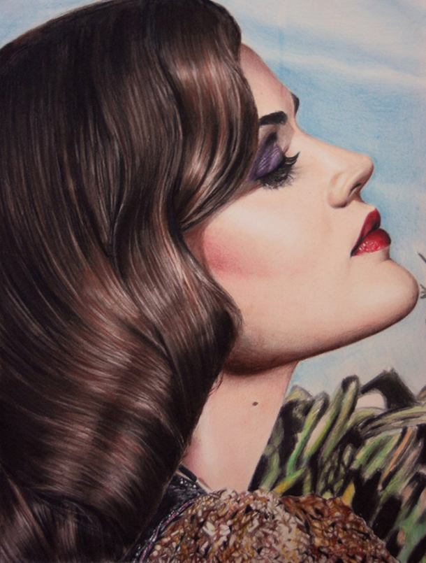Lucy Hale Color Pencil Drawing By Valentina Zou
