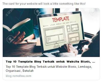 Gambar, Judul, dan Deskripsi Blog Saat Share ke Facebook dan Twitter