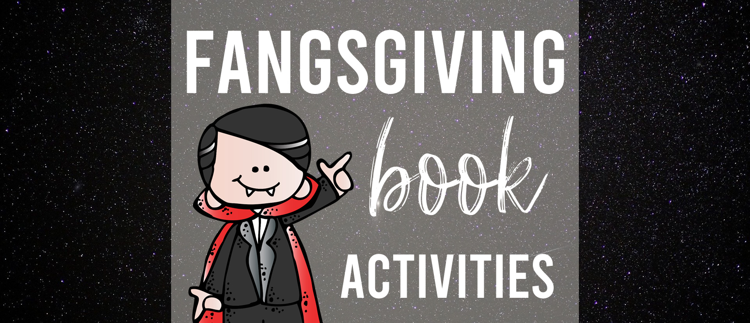 Fangsgiving book study activities unit with Common Core aligned literacy companion activities and a craftivity for Thanksgiving in Kindergarten and First Grade