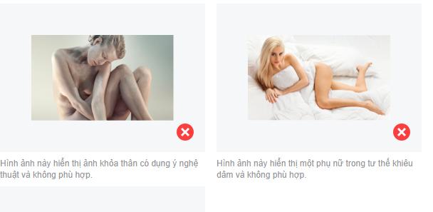 nội dung bị cấm trong quảng cáo Facebook 5