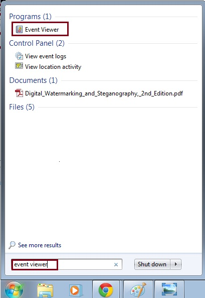 eventviewer