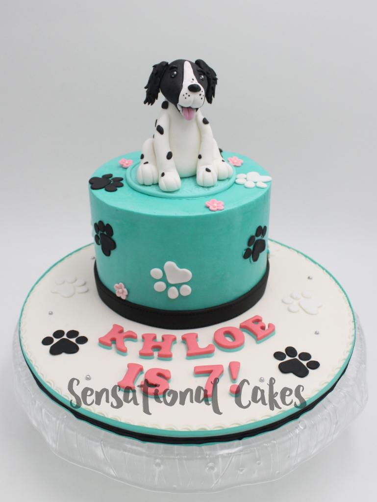 The Sensational Cakes Dalmatian Dog Pet For Girl Birthday Singapore