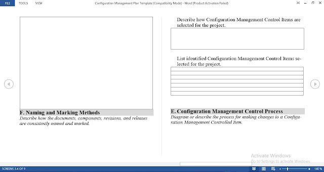 Free Configuration Management Plan Template