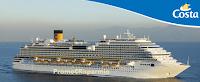Logo Costa Crociere: vinci gratis pacchetti crociere