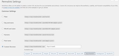 Wordpress Permalink Format Customization