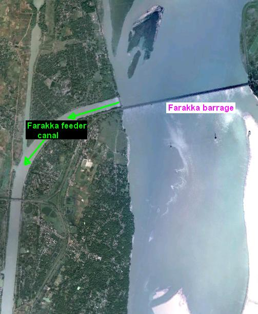 Farakka Feeder Canal to  Bhagirathi-Hooghly