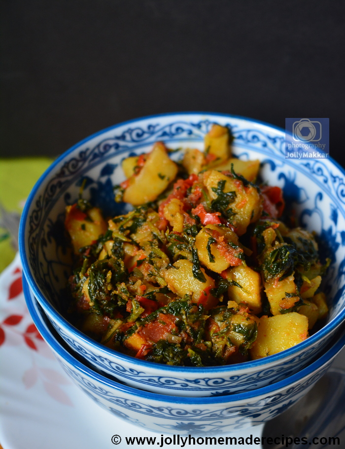 Aloo Methi Sabzi - No Onion No Garlic