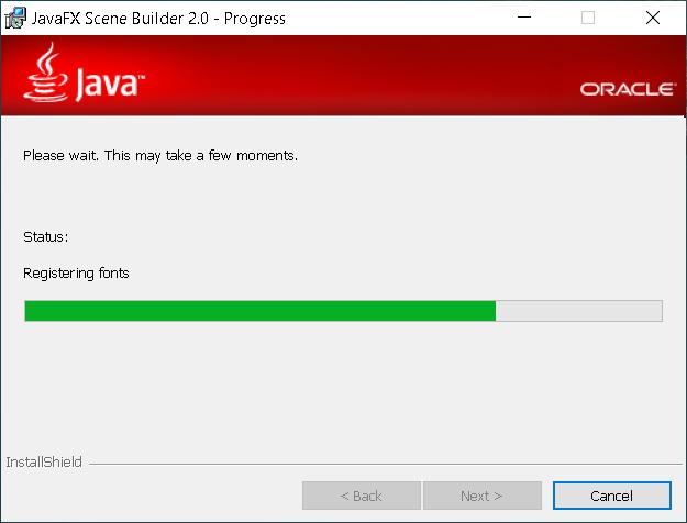 Step 3 - JavaFX Scene Builder 2.0 on Windows