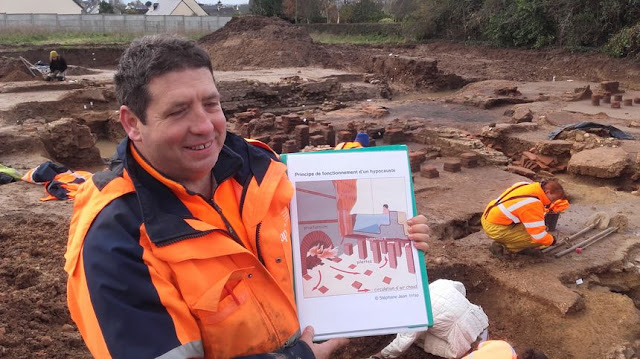 Gallo-Roman thermal baths unearthed in north-western France
