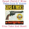 Sweet Child O' Mine Tabs Guns N' Roses - Free Tabs And Sheet