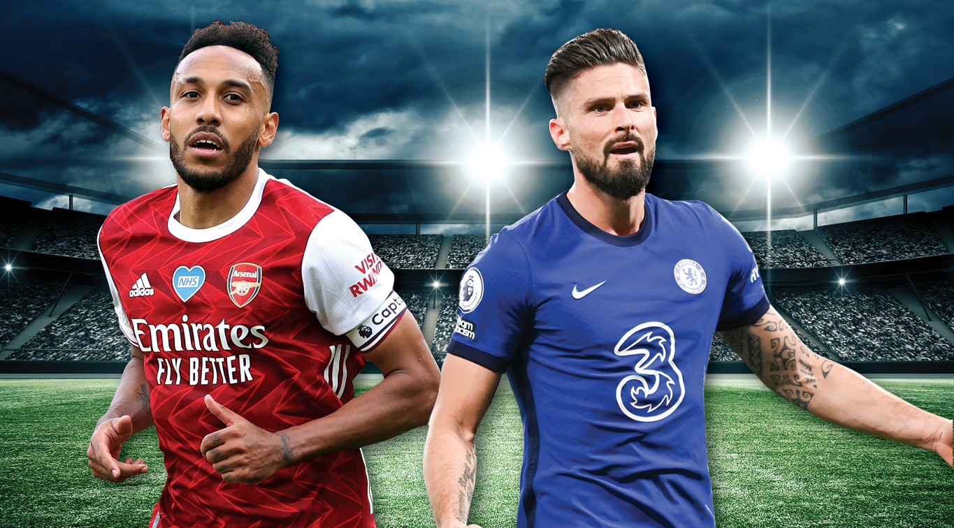 Pierre-Emerick Aubameyang and Olivier Giroud will spearhead their respective attacks in this fierce London derby