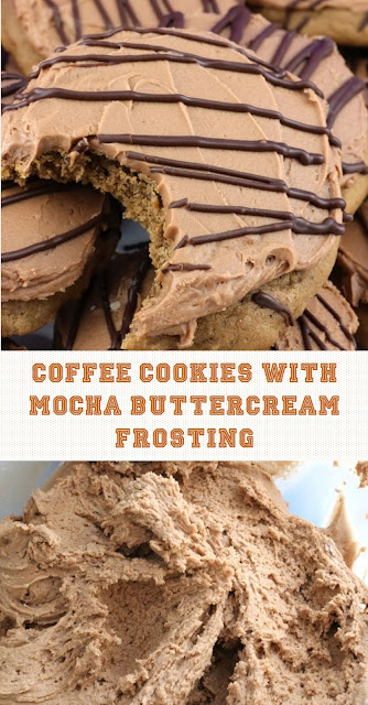 COFFEE COOKIES WITH MOCHA BUTTERCREAM FROSTING