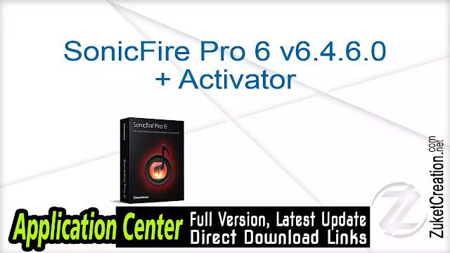 SonicFire Pro 6 v6.4.6.0 + Activator