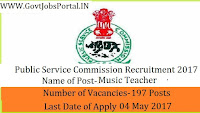 Telangana State Public Service Commission Recruitment 2017– 197 Music Teachers