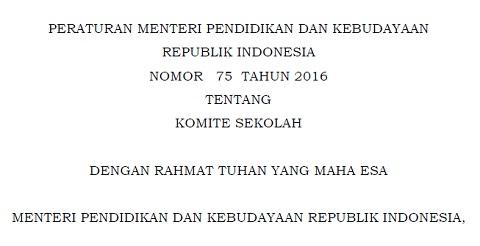 Kemdikbud Revitalisasi Komite Sekolah Melalui Permendikbud Nomor 75 Tahun 2016