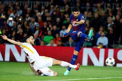 Champions League match against AC Roma
