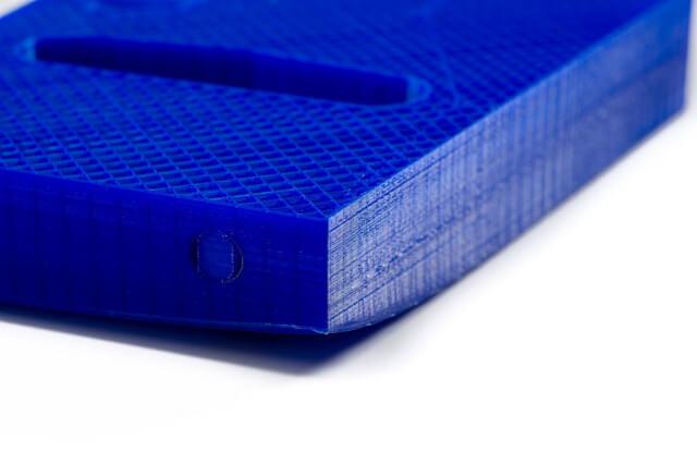 Warping on 3D print sample