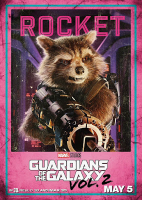 Rocket Raccoon Guardians of the Galaxy Vol 2 character poster