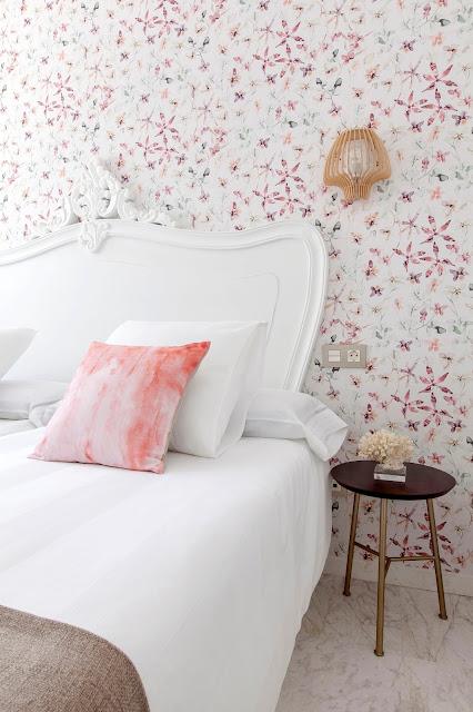 decoración dormitorio papel pintado reforma integral