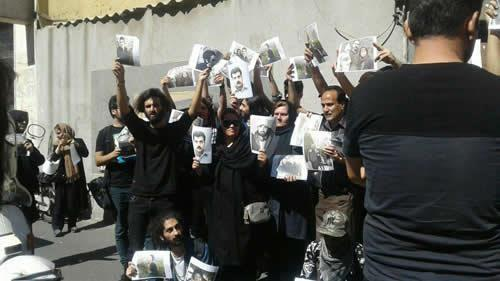 Protest Rally in Front of Regime's Parliament to Release Political Prisoner Soheil Arabi