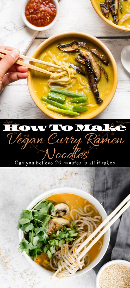 Vegan Curry Ramen Noodles #vegan #vegetarian #soup #breakfast #lunch