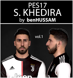 PES 2017 Faces Sami Khedira by BenHussam