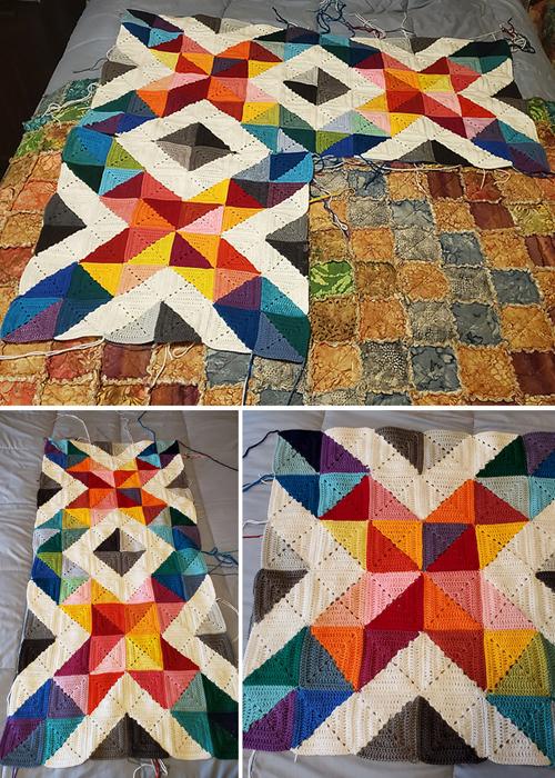 Hybrid Crochet Quilt - Free Pattern