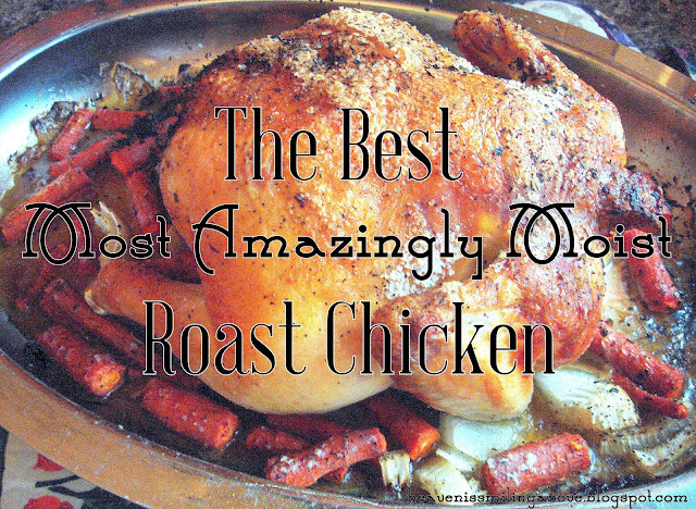 How to Roast the Best, Most Amazingly Moist Chicken heavenissmilingabove.blogspot.com I cured the #chicken curse! No more dry chicken. Roast this amazing bird tonight and have your family sighing with satisfaction. #poultry #recipe #dinner #holidayDinner