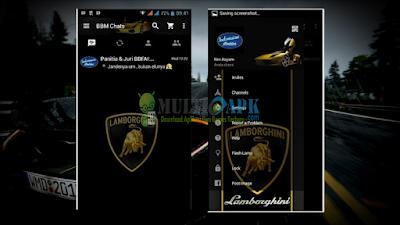 BBM Mod Lamborghini v2.13.0.26 APK Clone
