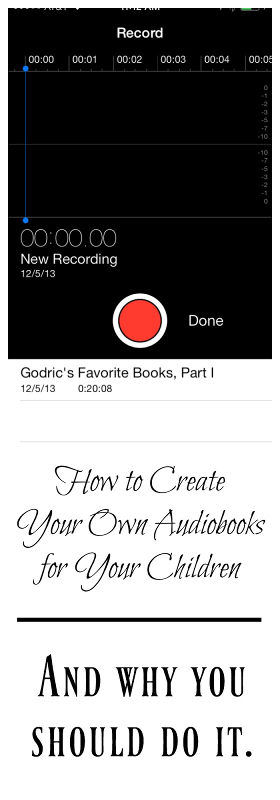 DIY Audiobooks for Children