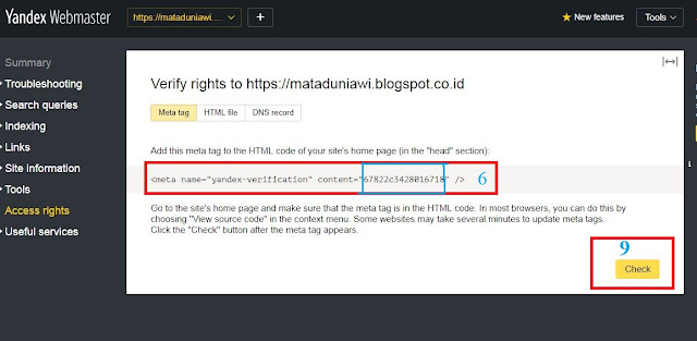 Cara mudah daftar dan verifikasi  sitemap ke yandex