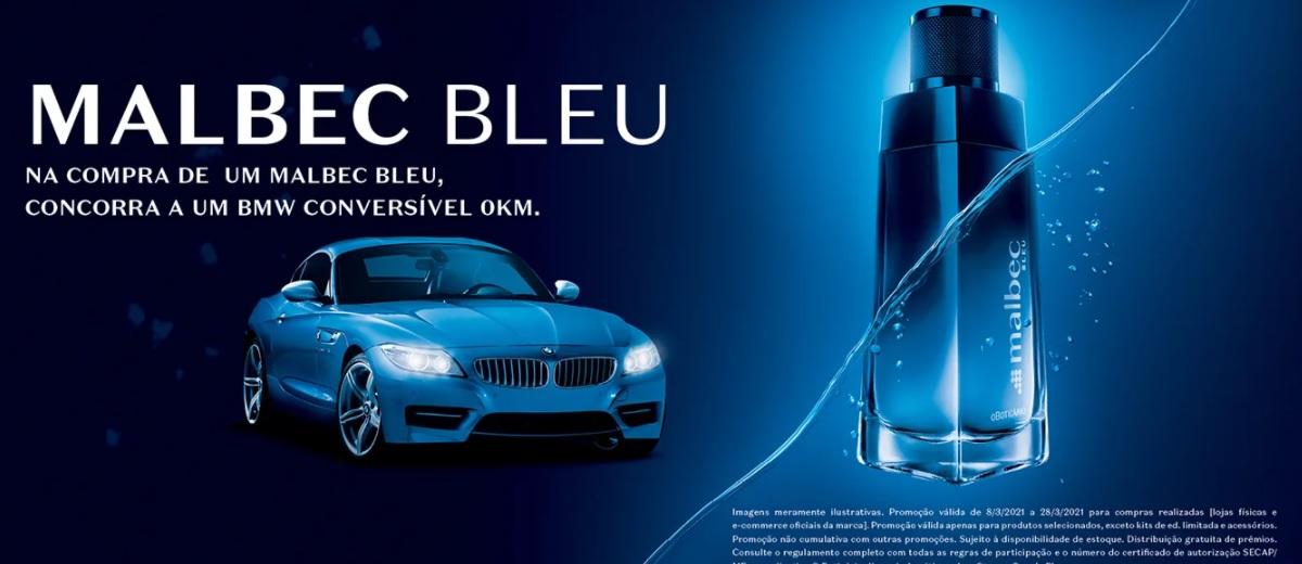 Participar Promoção Malbec Bleu BMW Conversível 0KM Cadastrar - Sorteio Carro O Boticário 2021